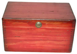 Large Ammo Box in Red Finish