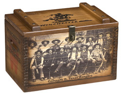 Large Ammo Box w/ Texas Rangers Art