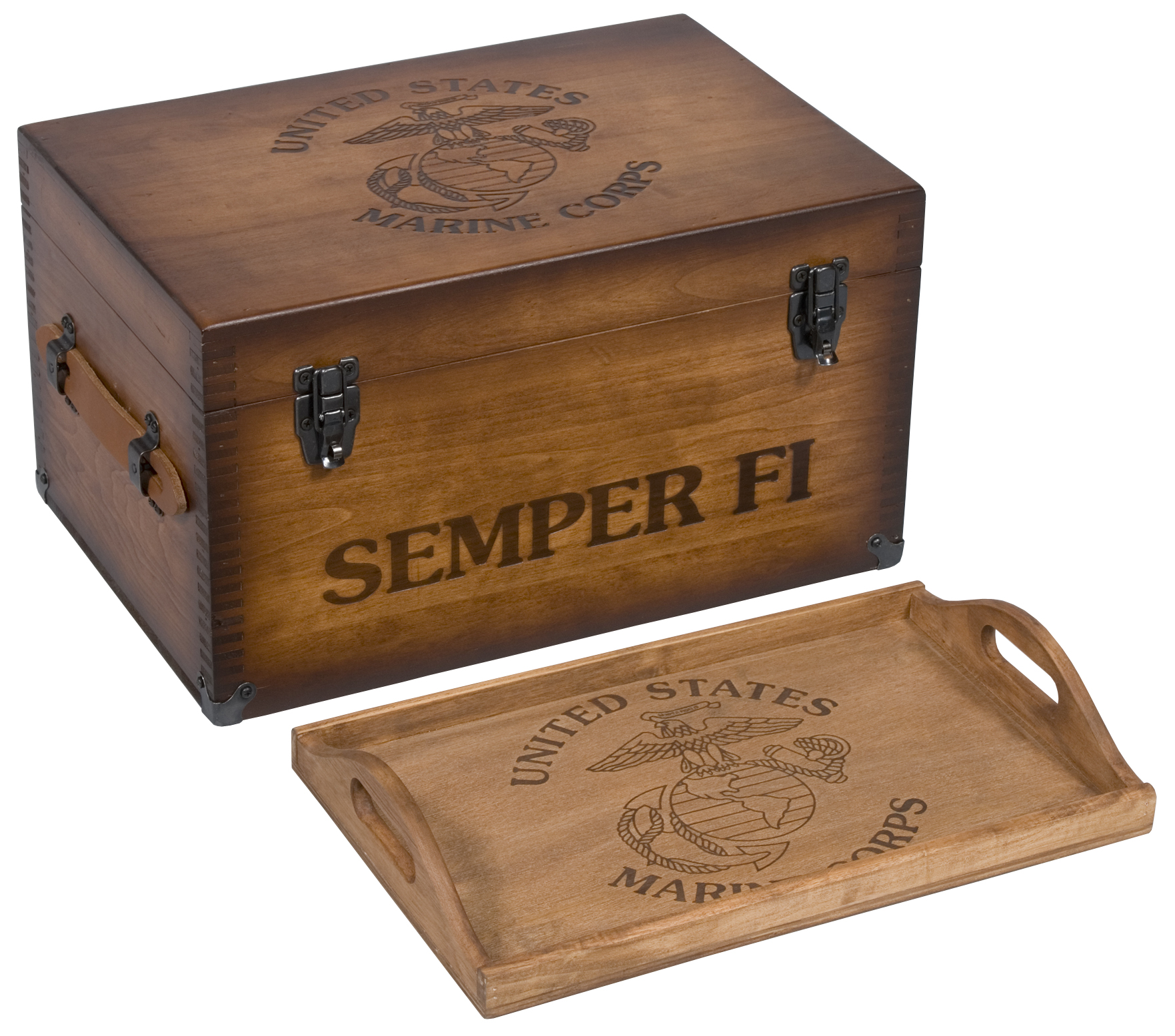 Marine Corps Keepsake Chest w/ Tray