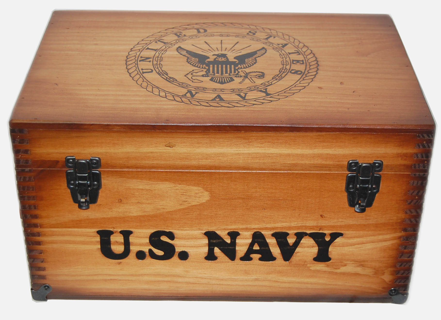 Navy Keepsake Chest w/ Tray