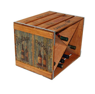 Wine Slatted Crate
