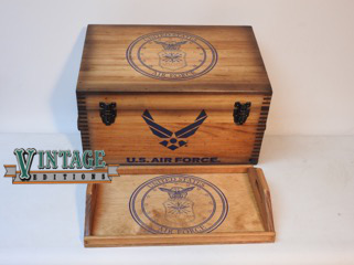 1e57474625d U. S. Air Force Wings Keepsake Chest – Officially Licensed